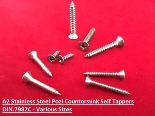 600 Assorted Self Tapping Screws Stainless Steel Pozi Countersunk Self Tappers
