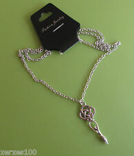 WICCA Celtic knot Tibetan silver triple moon Goddess necklace pendant on chain