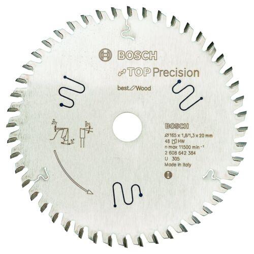 Bosch 2608642384 165 x 20 x 48 T Lame de scie circulaire Top Precision