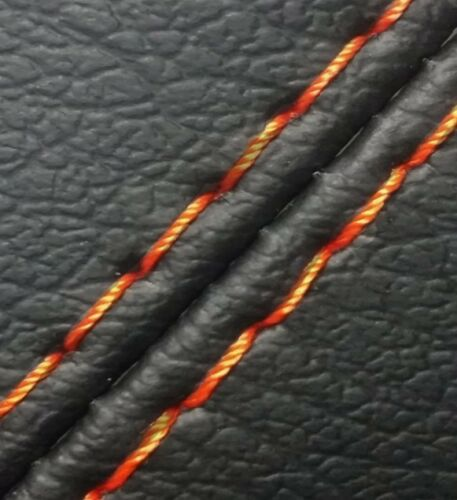 E Brake Boot Real Leather for Ford Mustang 10-14 Orange Stitch