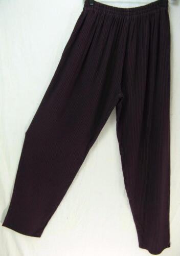 M-1X? TIENDA HO~Aubergine Stripe~SUSTI~Pull On~SONYA PANTS~relaxed~OS