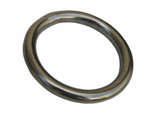 "1//4"" x 1-1//2"" Marine Round O Ring Rigging For Boat 316 Grade Stainless Steel"