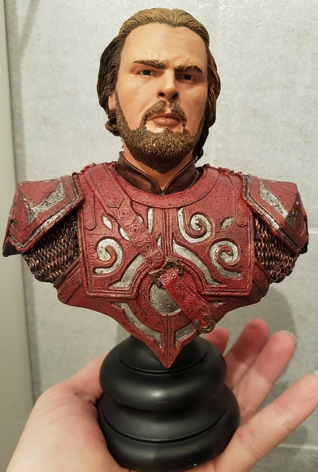 Statua RESINA Busto EOMER Signore degli anelli sideshow 20cm