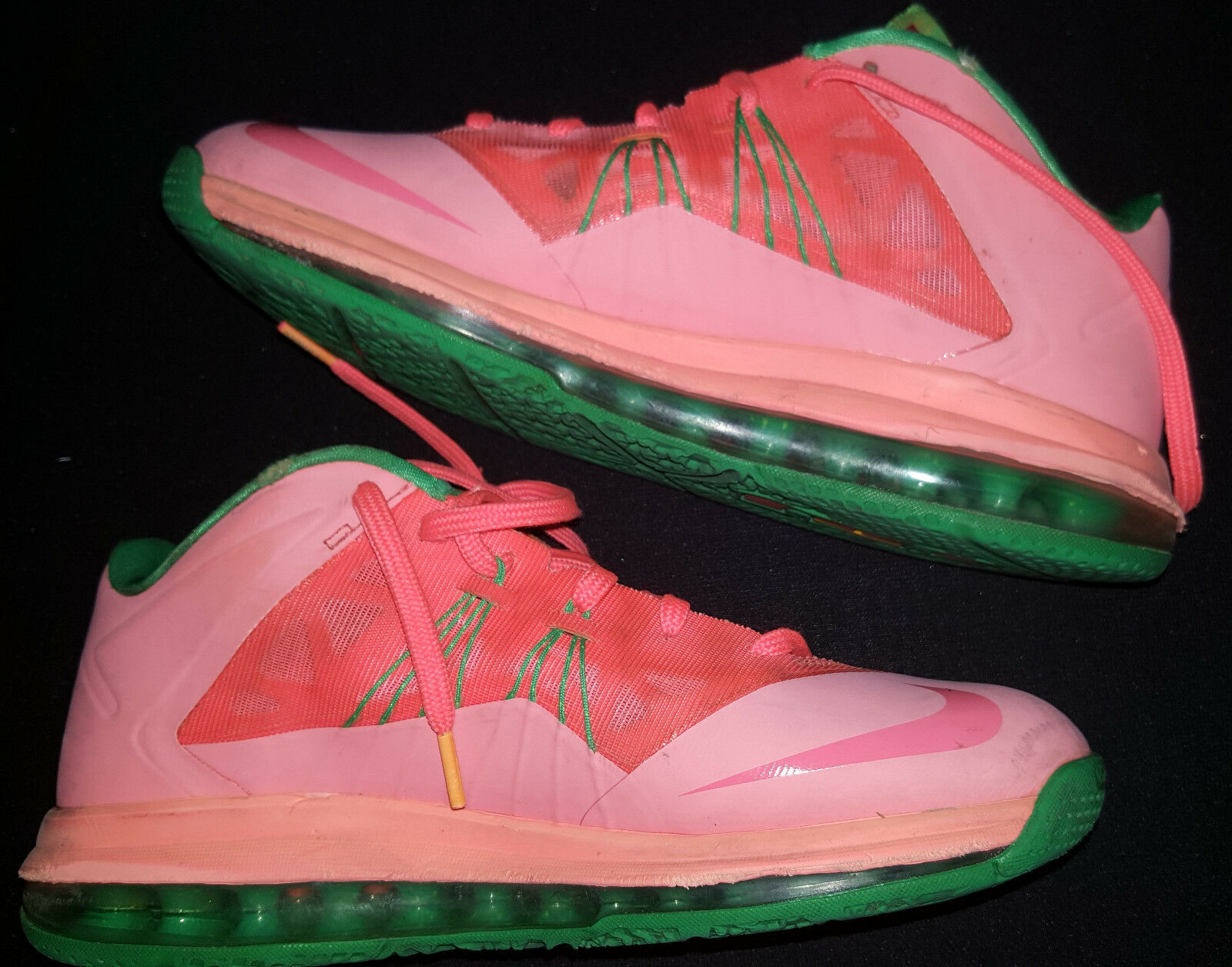 LEBRON JAMES NIKE Mens Sneakers Shoes 2018 X LOW Watermelon Orange Size 8