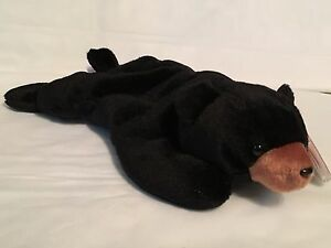MINT Ty Beanie Baby Early 4th Generation 1993 Blackie The Black Bear
