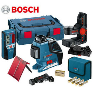 new bosch gll3 80p line laser bm1 wall mount lr2 receiver tiling laser combo set ebay. Black Bedroom Furniture Sets. Home Design Ideas