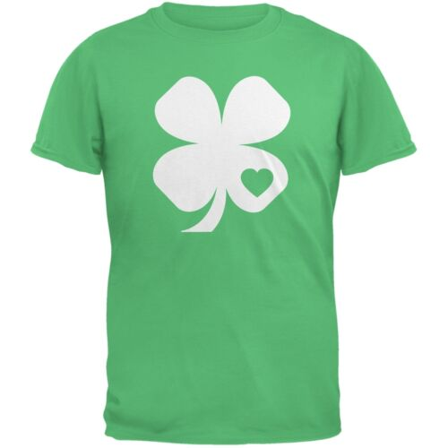 St Shamrock Heart Irish Green Adult T-Shirt Patricks Day
