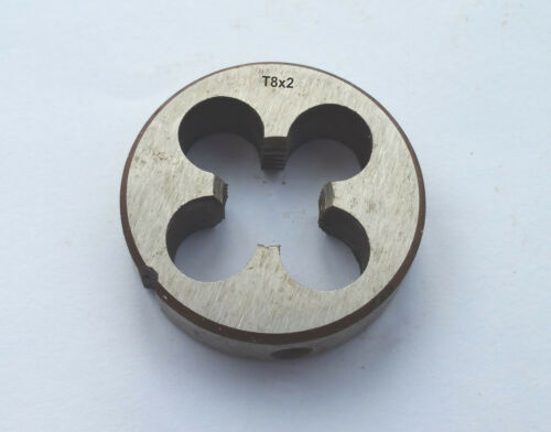 HSS Trapezoidal Metric Right Hand Die TR8 x 2mm Pitch T8 x 2 mm