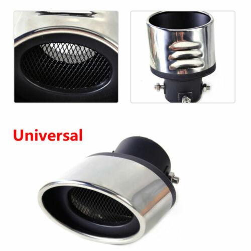 Stainless Steel Car Exhaust Muffler Tip Bend Tail Throat Black Edge Universal