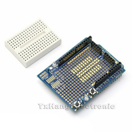 Atmega328P Arduino Prototyping Prototype Shield ProtoShield + Mini Breadboard
