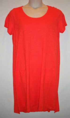 EILEEN FISHER Short Sleeve Pocket Dress Sizes PP L MSRP $158 PS M S NEW