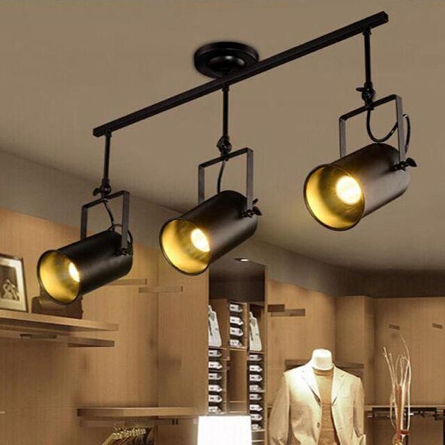 Modern Spotlight Led Ceiling Lighting Track Lamp 3 Pendant Light Fixture Metal For Sale Online