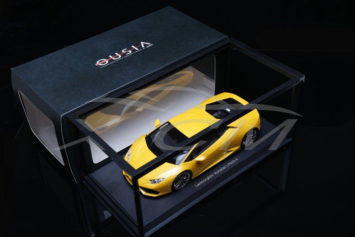 Diecast Car Model Kyosho Lamborghini Huracan LP610-4 1 18 (Yellow) + GIFT