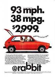 Image Is Loading 1975 Red Volkswagen Rabbit 2 Door Hatchback Photo