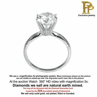 0.18 ct Genuine Diamond Brilliant Cut Solitaire Studs 14K White Gold //Video