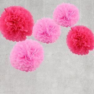 Deko Pompoms pompoms set papier rosetten hängedeko hochzeit kindergeburtstag deko