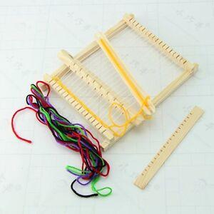 DIY-Child-Wooden-Handloom-Developmental-Toy-Yarn-Weaving-Knitting-Shuttle-Loom