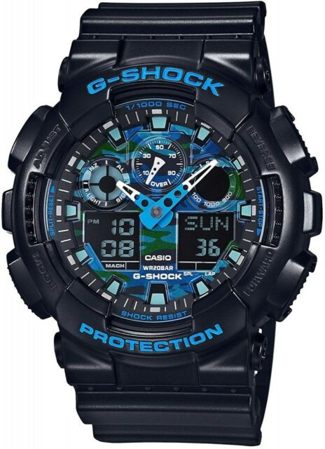 Casio G-SHOCK Quartz Men's Watch GA-100CB-1A Blue Camoufla,NEW,From Japan