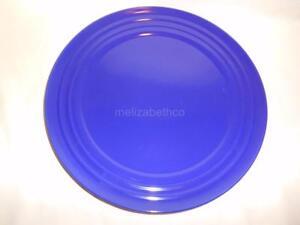 Rachael Ray BLUE Double Ridge Dinner Plates 11\