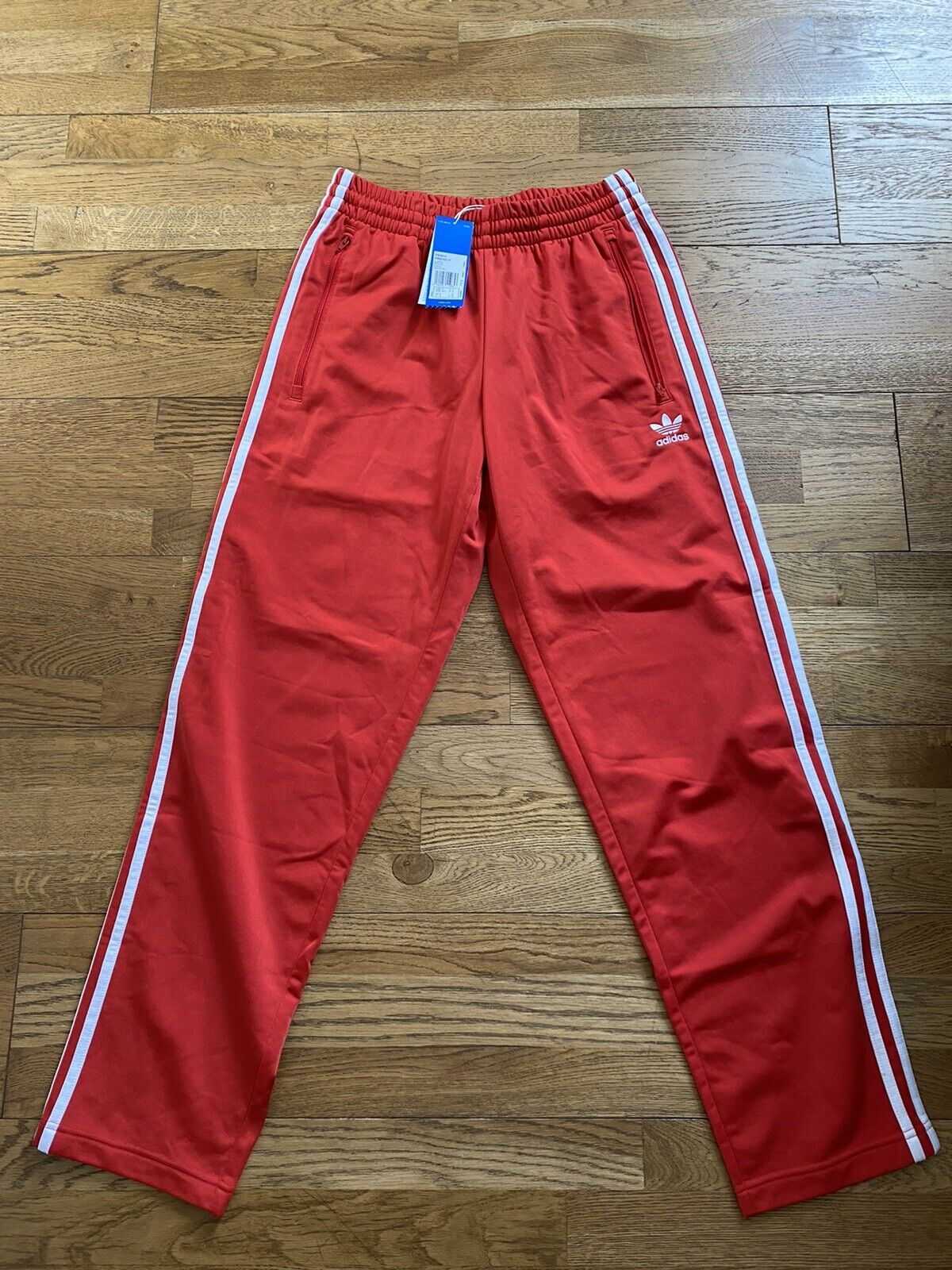 Men's Adidas Originals Firebird Lush Red Tracksuit Track Pants. Size S Small New