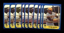 1986 FLEER UPDATE #U-14 BARRY BONDS RC LOT OF 10 MINT *INV1707