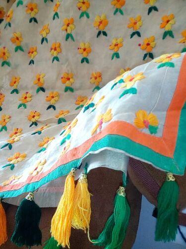 Bel Phulkari Chanderi mano X36 nuovo punjabi 90 a indiano lavorato Silk Amritsari r7wgUIxqZr