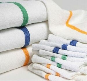assorted color stripe bar towels 10 lbs box wipers shop rags cleaning cloths