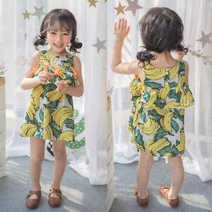 f270ad1067da4 Toddler Kid Baby Girl Banana Tassel Layered Party Pageant Dress ...
