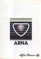 Alfa Romeo Arna 1.2 SL 1984-86 Original UK Foldout Sales Brochure No 8410 3000/1