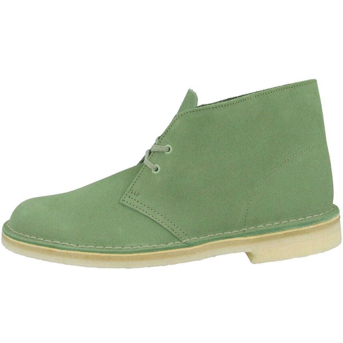 Clarks Desert bota Men zapatos caballero botas schnürzapatos verde Suede 26141960