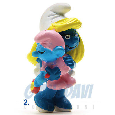 Radient Puffo Puffi Smurf Smurfs Schtroumpf 2.0192 20192 Smurfette With Baby Puffetta 2a