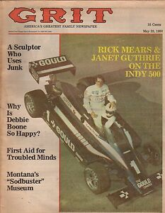 Details about 1980 Grit May 25 - Rick Mears & Janet Guthrie;Red Skelton;Sha Na Na;Debbie Boone
