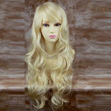 Wiwigs impresionante largo ondulado en capas rubia parte superior de piel pálida mujer de