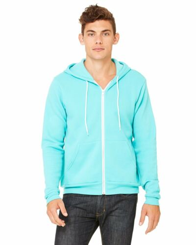 Clementine Womens Poly-Cotton Fleece Full-Zip Hoodie CLM3739TN All Sizes