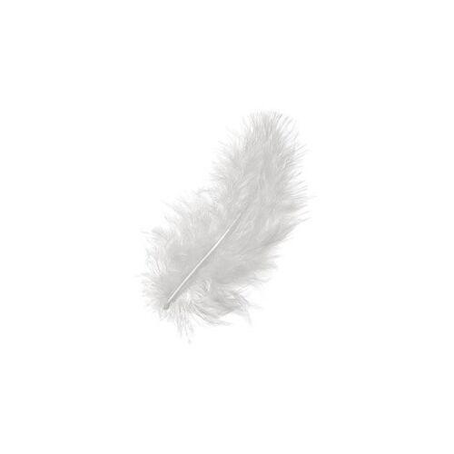 weiß 10-15 cm Flauschfeder 15 St.