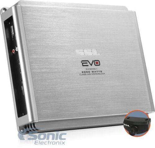 SoundStorm EVO2000.1 2000W Max Monoblock EVO Series Class A//B Car Amplifier//Amp