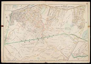 1900 MIDDLESEX COUNTY COPY ATLAS MAP-24x36 ARLINGTON BELMONT MASSACHUSETTS