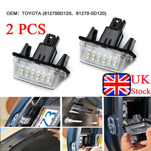 2x-LED-Rear-License-Plate-Lamp-Light-Assembly-Fit-For-Toyota-Auris-Yaris-Avensis