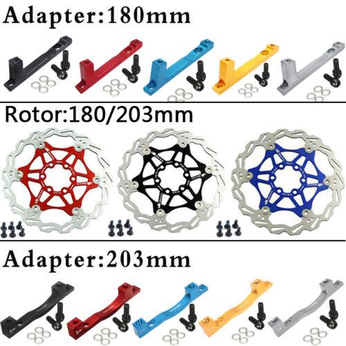 160//180//203mm MTB Bike Floating Disc Brake Rotor PM Adapter Caliper Fit SHIMANO