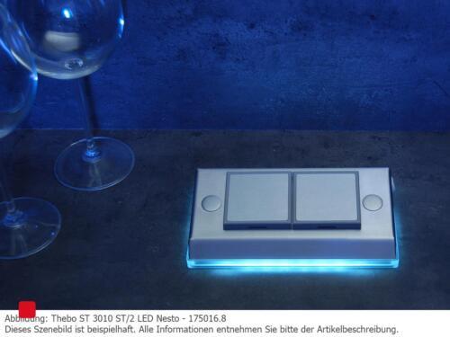 175016 Steckdosenelement Edelstahl Thebo ST 3010 ST//2 LED Nesto