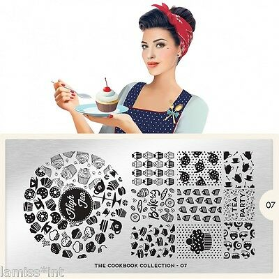 MoYou London COOKBOOK 7 Collection Stamping Schablone,Kuchen Muffin Tee