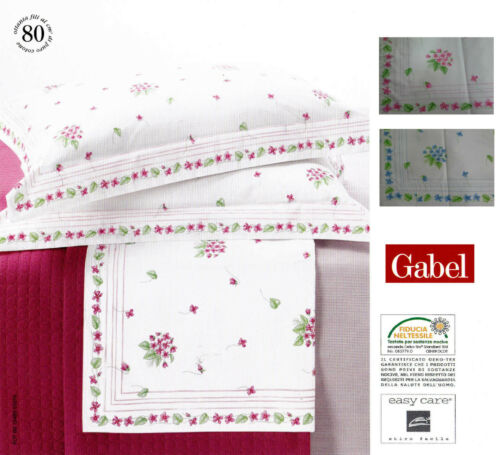 St Sheets printed on Gingham Cotton Double GABEL CALIPSO
