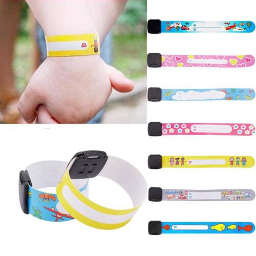 8Pcs//lot Outdoor Anti-lost Identity Kid Bracelet Waterproof Safety ID Wristband