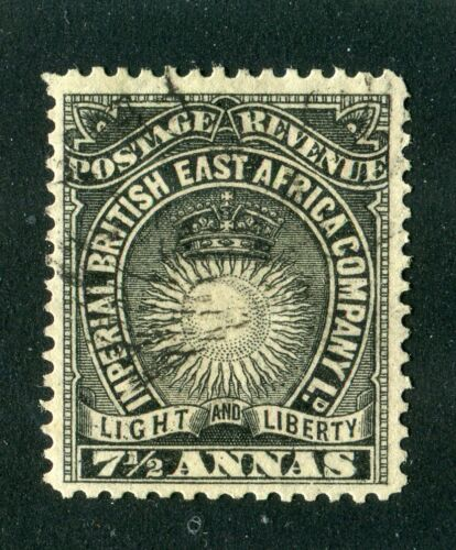 British East AfricaKUT 1895. 7 12a black. Used. SG 30.