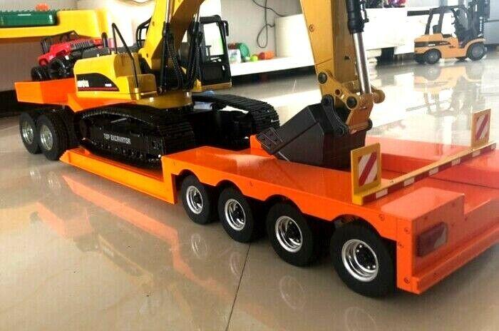 4-Axle semi remolque de aluminio grande para todos los Cabina Camión Tamiya 1 14 Nuevo En Caja