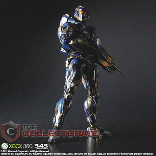 Halo 4 Play Arts Kai Spartan Warrior Action Figure New