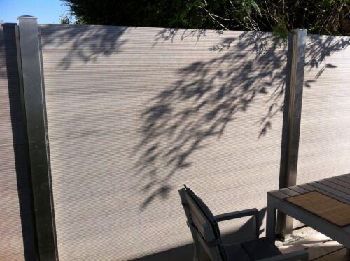 Musterbox WPC Sichtschutz Zaun Windschutz Garten Holz Kunststoff Terrasse