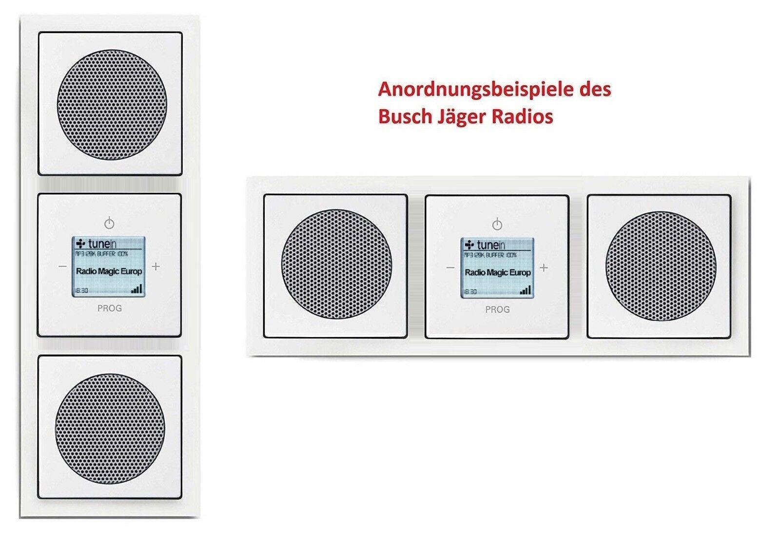Busch Jäger WLAN INET Radio 3 fach 8216 U 8216U 2x Lautsprecher Future linear