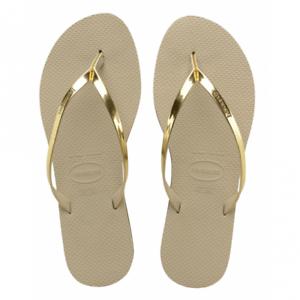 Havaianas You Metallic Sand Flip Grey/Gold Flip Sand Flops 703ada