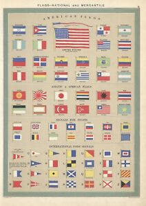 c1918-Merchant-ship-flags-of-the-World-2-sheets